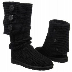 NEW women's ugg 3 button crochet boots 8